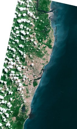 Recife-Brésil le 12 mai 2005 (SPOT 5)