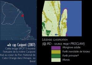 Légende de la classification des milieux à l'embouchure du rio Caciporé - Amapà - Brésil.